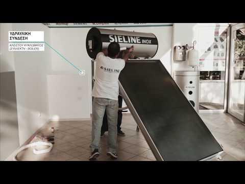 Ηλιακός θερμοσίφωνας SIELINE INOX & ECO , Εγκατάσταση, Συνδεσμολογία, Παρουσίαση μοντέλων