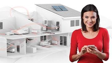 Έξυπνο σπίτι αυτοματισμοί, θέρμανση, wifi, dimplex