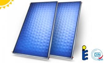 Ηλιακοί επιλεκτικοί συλλέκτες full plate για θέρμανση και ζεστό νερό