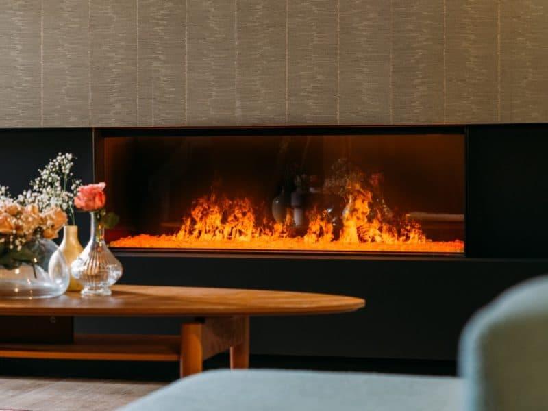 Ρεαλιστική φωτιά εικονική τζάκι Faber dimplex e-MatriX 1300-400 I