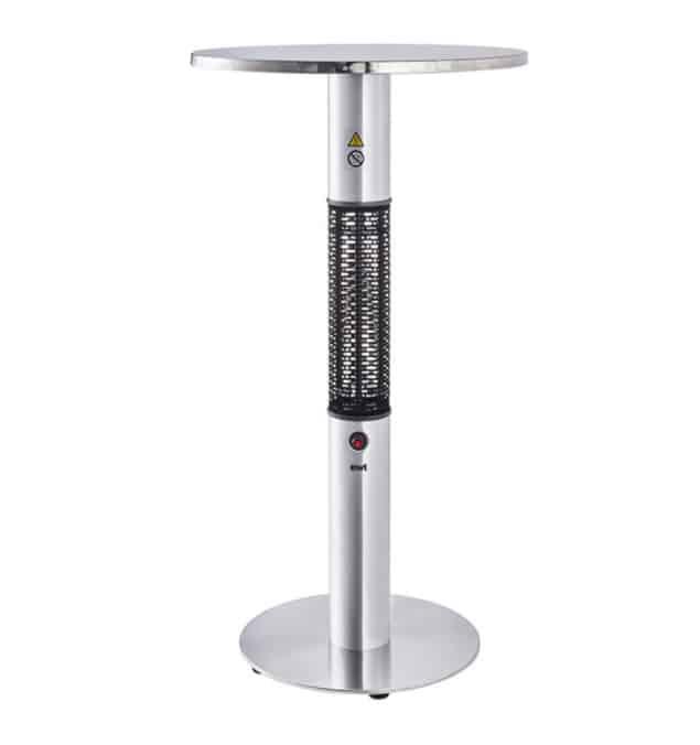 Τραπέζι υπέρυθρης Clima800S θέρμανσης 360 μοιρών για εξωτερική χρήση .